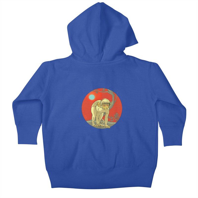 Monkey Zodiac Kids Baby Zip-Up Hoody by CB Design