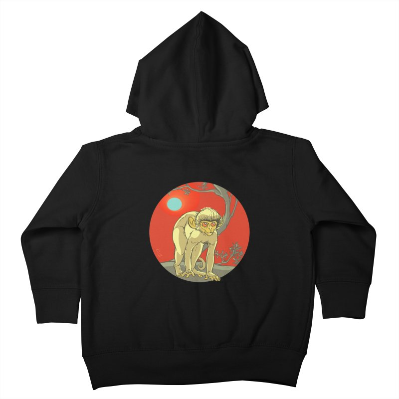 Monkey Zodiac Kids Toddler Zip-Up Hoody by CB Design