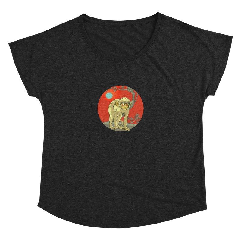 Monkey Zodiac Women's Dolman Scoop Neck by CB Design