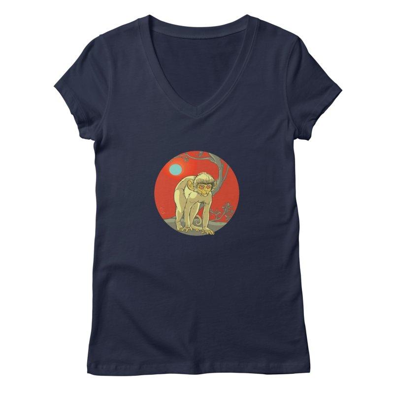 Monkey Zodiac Women's Regular V-Neck by CB Design