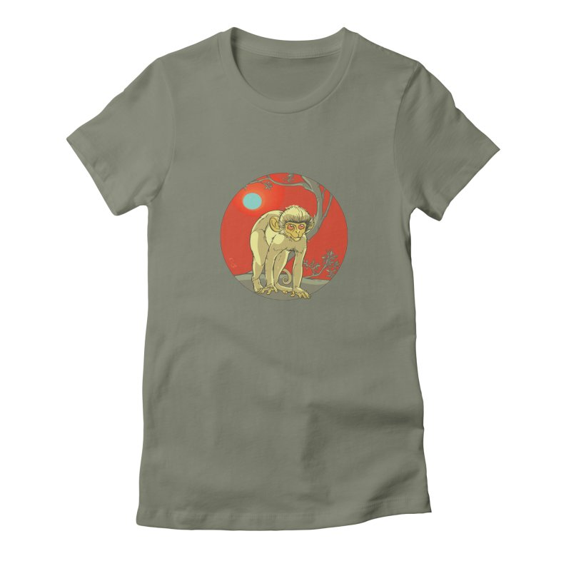 Monkey Zodiac Women's Fitted T-Shirt by CB Design