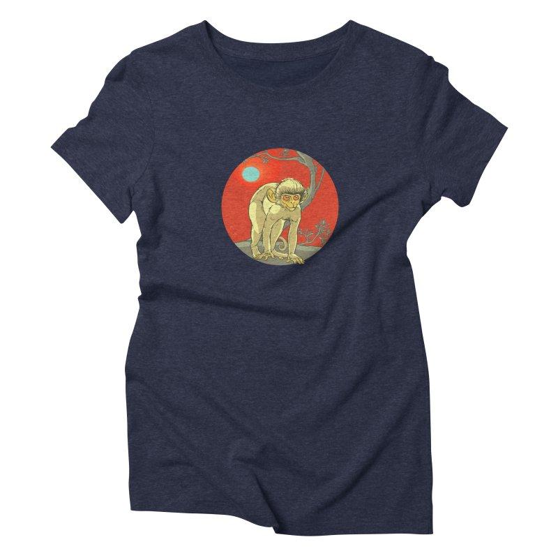 Monkey Zodiac Women's Triblend T-Shirt by CB Design