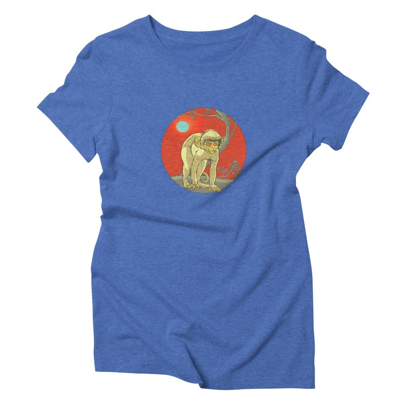 Monkey Zodiac Women's Triblend T-Shirt by CB Design