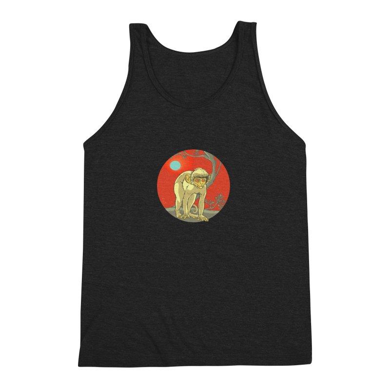 Monkey Zodiac Men's Triblend Tank by CB Design
