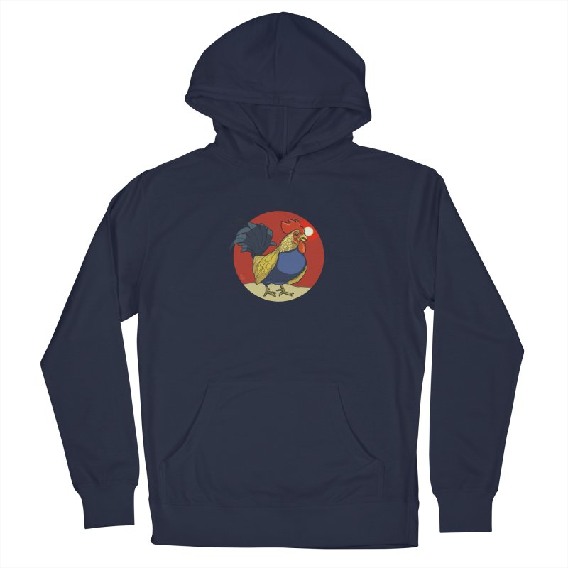Rooster Zodiac Men's French Terry Pullover Hoody by CB Design