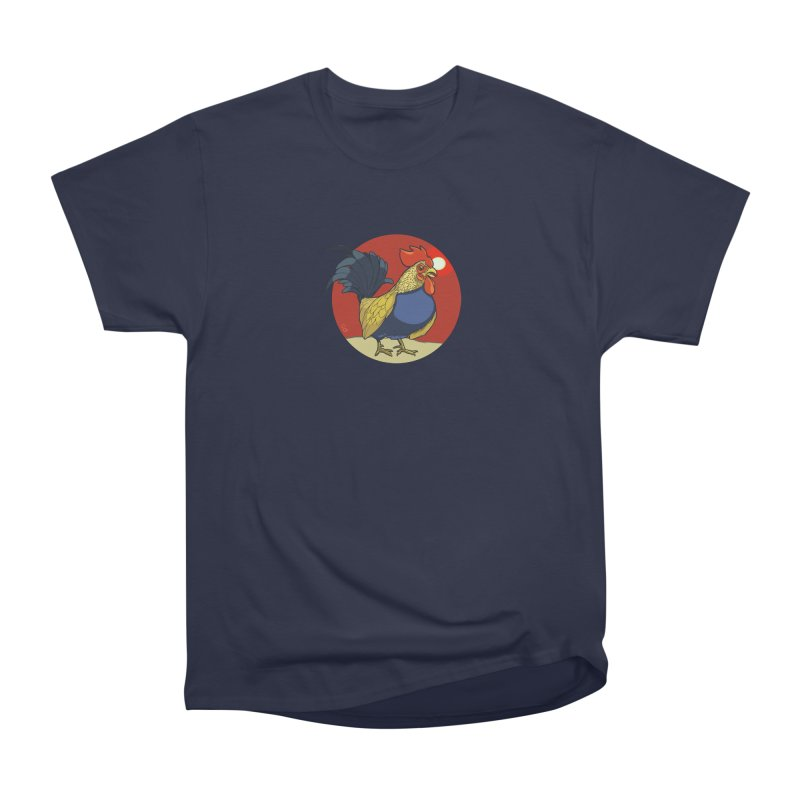 Rooster Zodiac Men's Heavyweight T-Shirt by CB Design