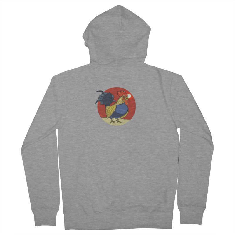 Rooster Zodiac Women's French Terry Zip-Up Hoody by CB Design
