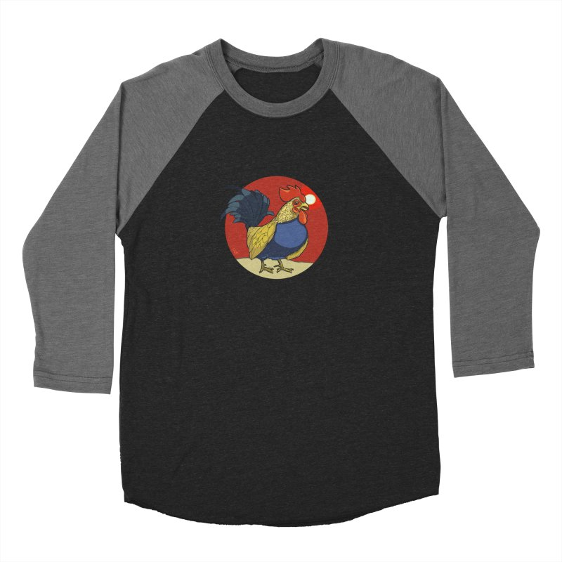 Rooster Zodiac Men's Baseball Triblend T-Shirt by CB Design