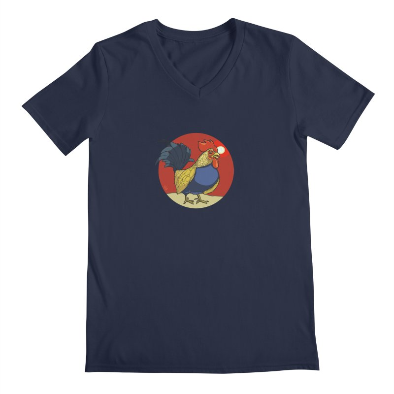 Rooster Zodiac Men's Regular V-Neck by CB Design