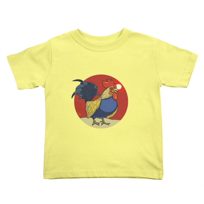 Rooster Zodiac Kids Toddler T-Shirt by CB Design