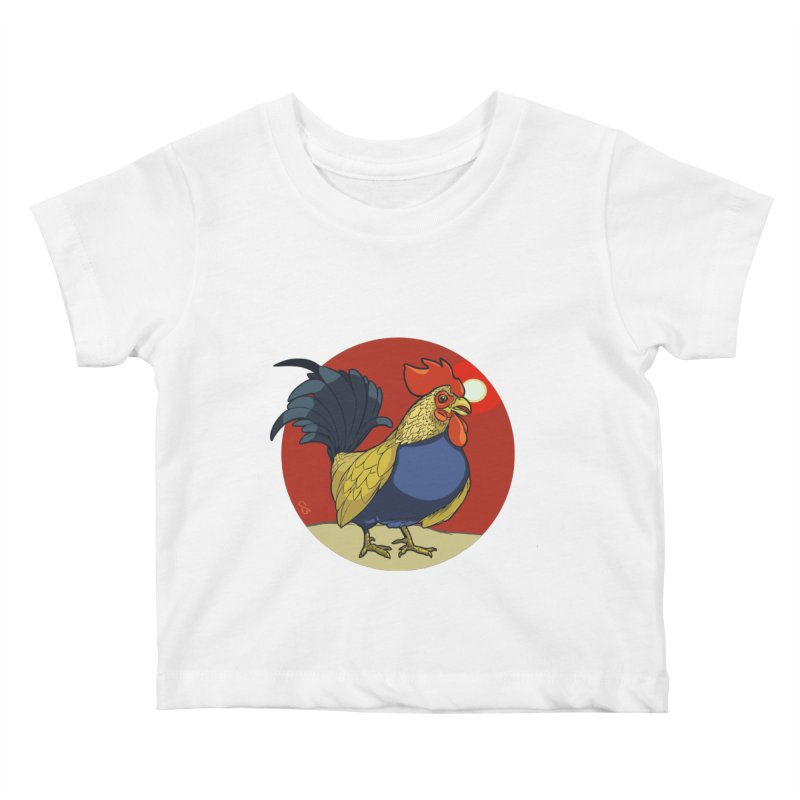 Rooster Zodiac Kids Baby T-Shirt by CB Design