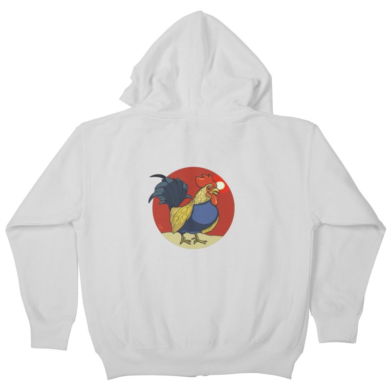 Rooster Zodiac Kids Zip-Up Hoody by CB Design