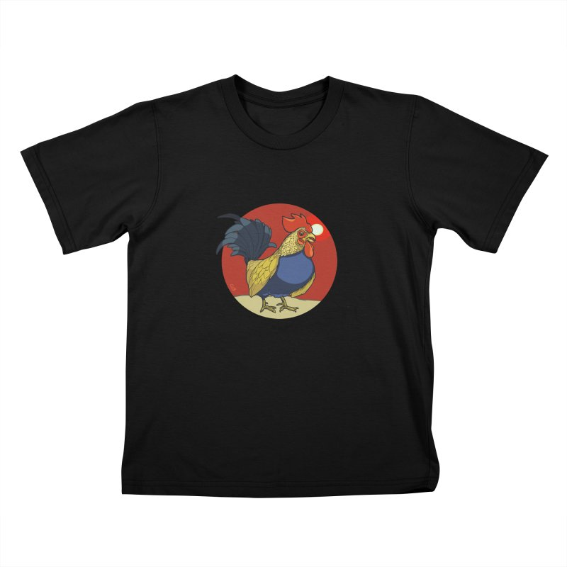 Rooster Zodiac Kids T-Shirt by CB Design