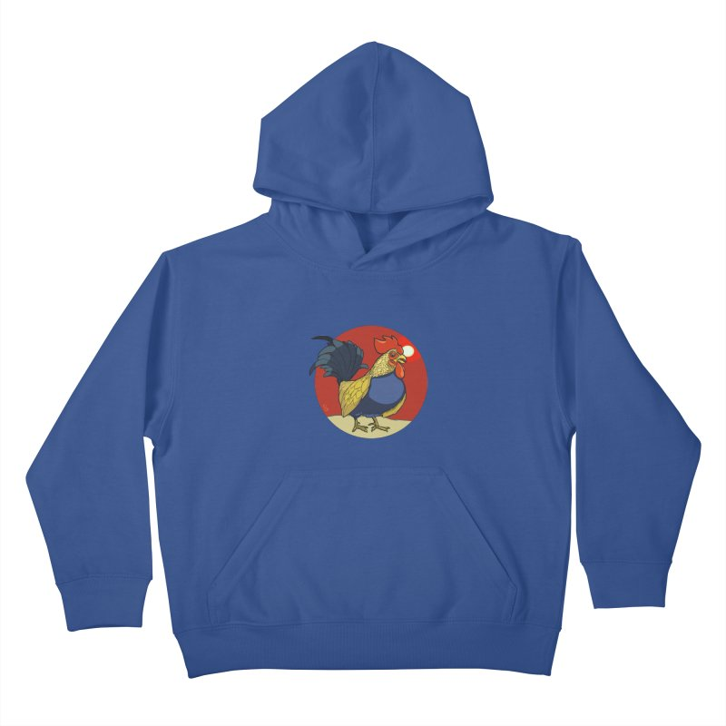 Rooster Zodiac Kids Pullover Hoody by CB Design