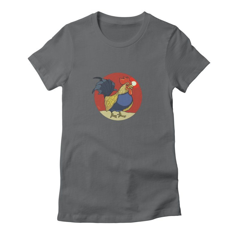 Rooster Zodiac Women's Fitted T-Shirt by CB Design