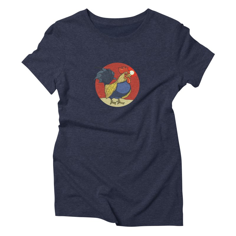 Rooster Zodiac Women's Triblend T-Shirt by CB Design