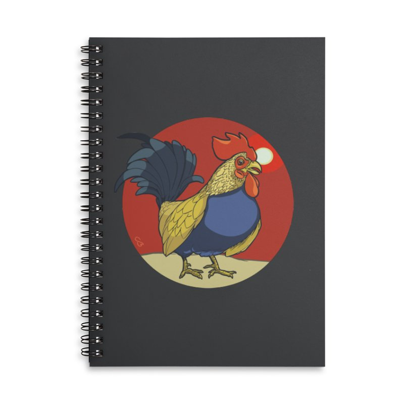 Rooster Zodiac Accessories Lined Spiral Notebook by CB Design