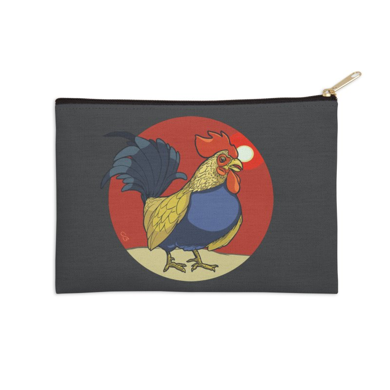 Rooster Zodiac Accessories Zip Pouch by CB Design