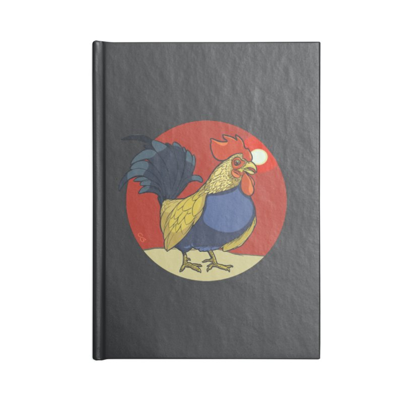 Rooster Zodiac Accessories Lined Journal Notebook by CB Design