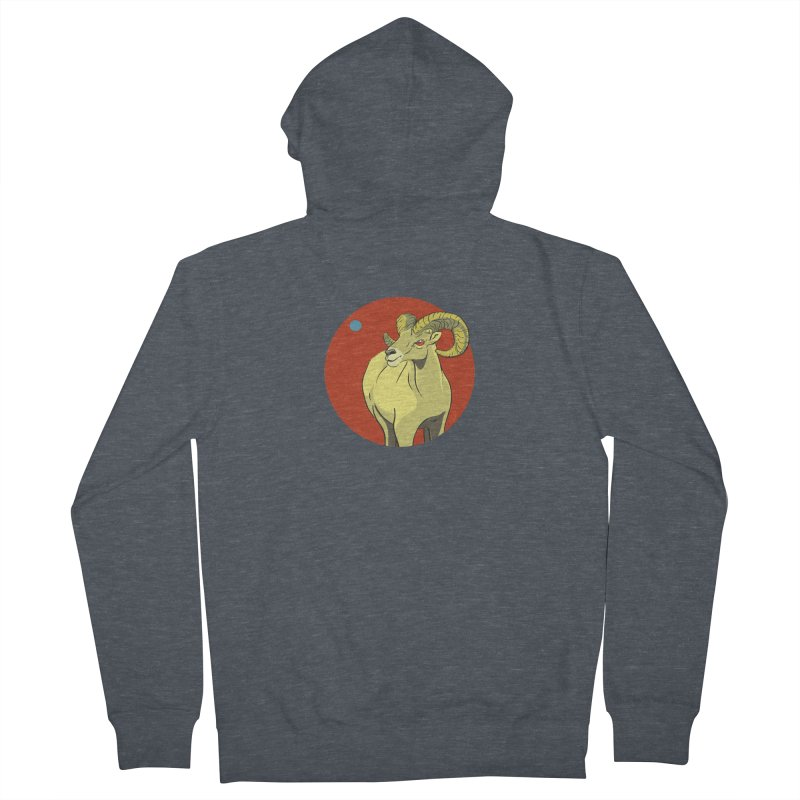 Sheep Zodiac Men's Zip-Up Hoody by CB Design