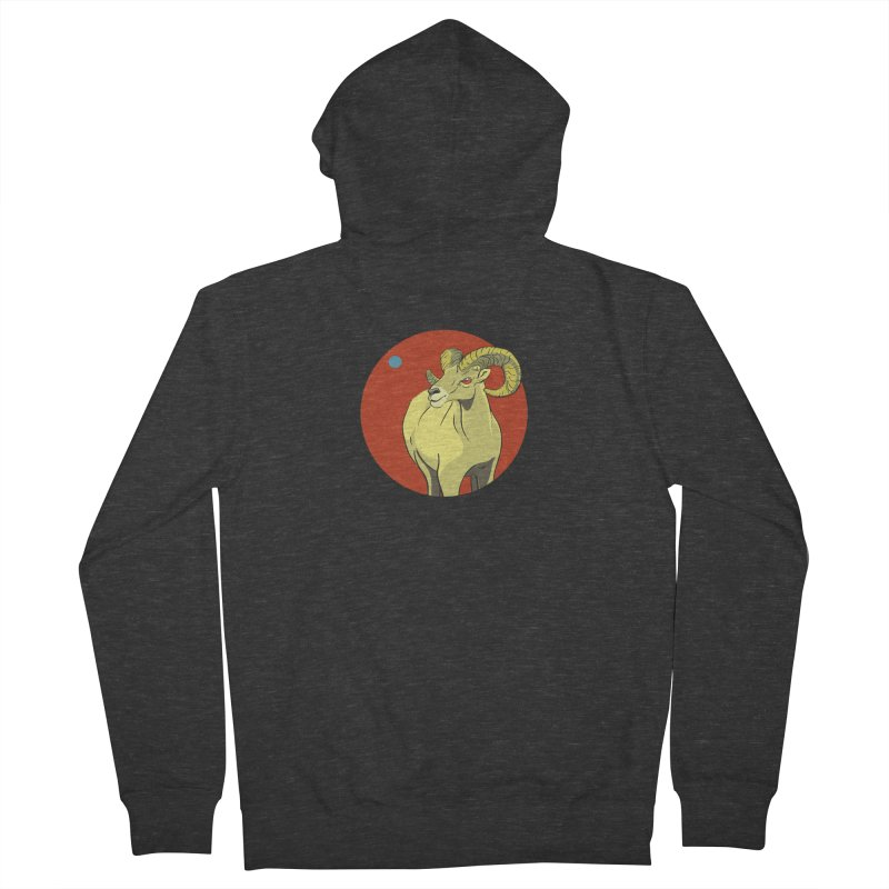 Sheep Zodiac Men's French Terry Zip-Up Hoody by CB Design