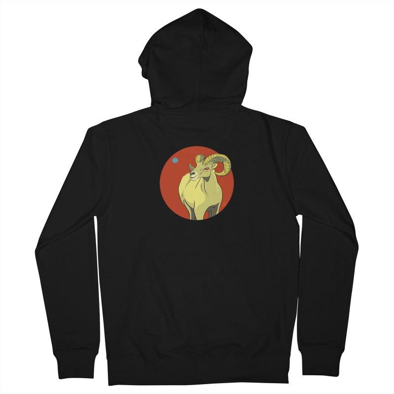 Sheep Zodiac Men's French Terry Zip-Up Hoody by CB Design