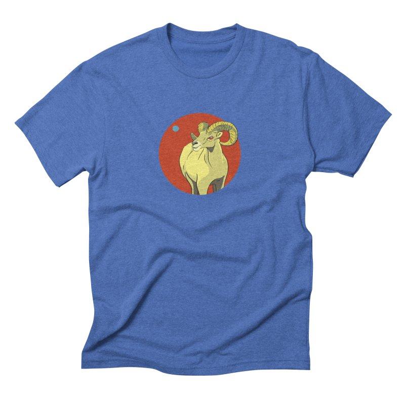 Sheep Zodiac Men's Triblend T-Shirt by CB Design