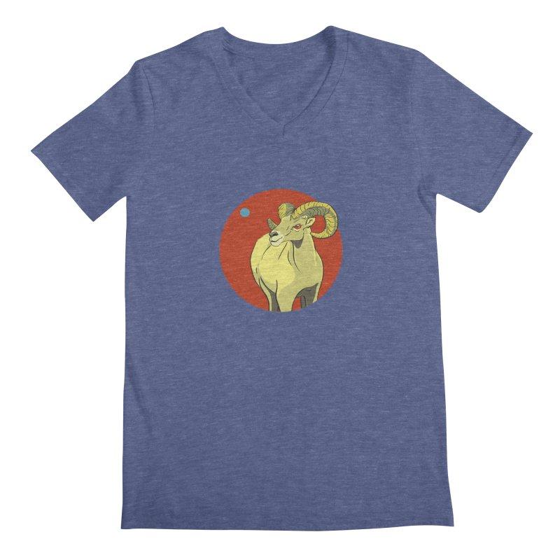 Sheep Zodiac Men's Regular V-Neck by CB Design