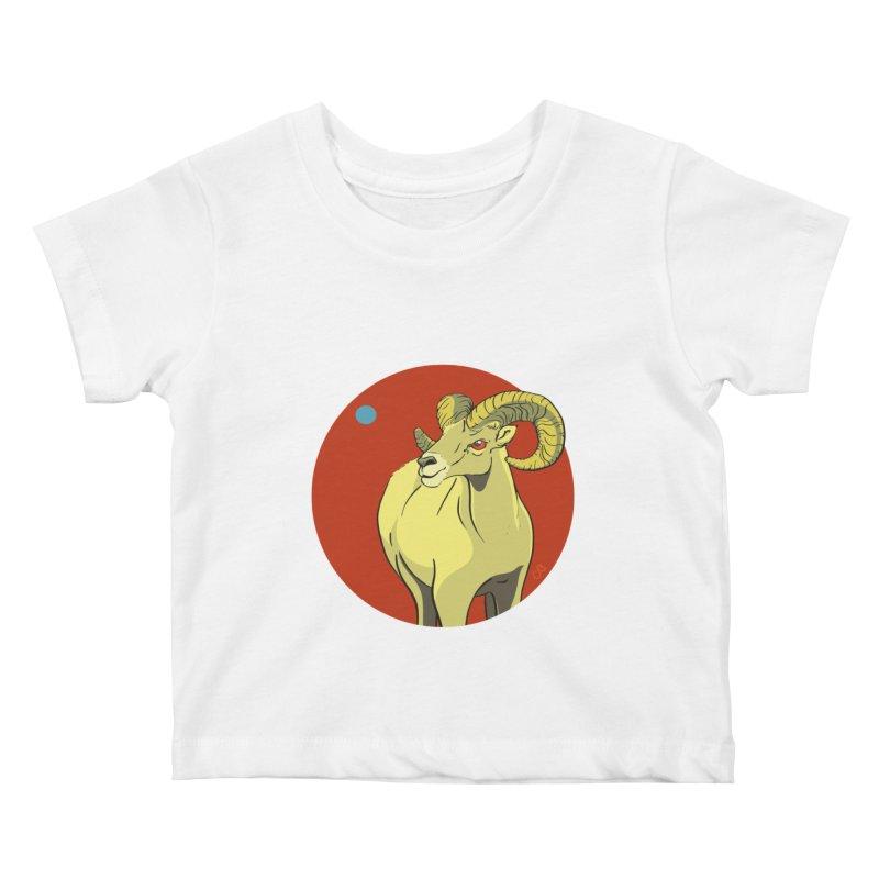 Sheep Zodiac Kids Baby T-Shirt by CB Design
