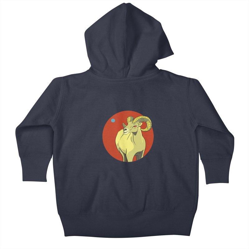 Sheep Zodiac Kids Baby Zip-Up Hoody by CB Design