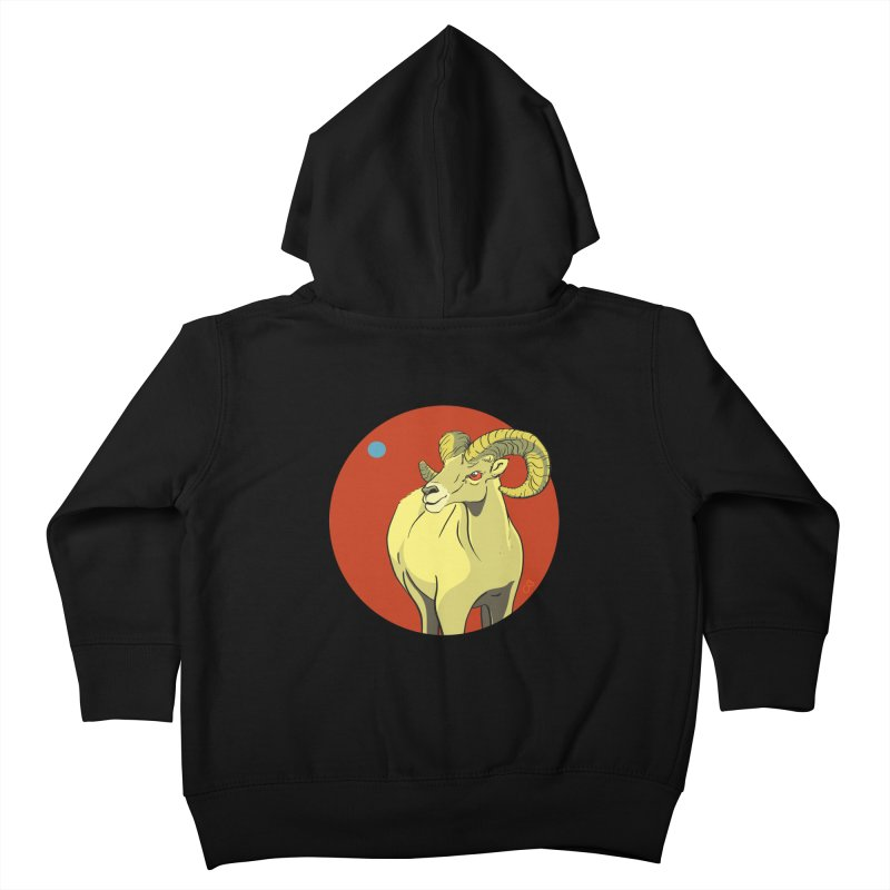 Sheep Zodiac Kids Toddler Zip-Up Hoody by CB Design