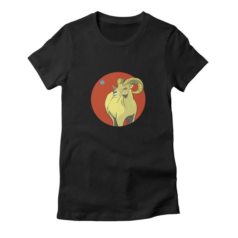 Sheep Zodiac Women's Fitted T-Shirt by CB Design