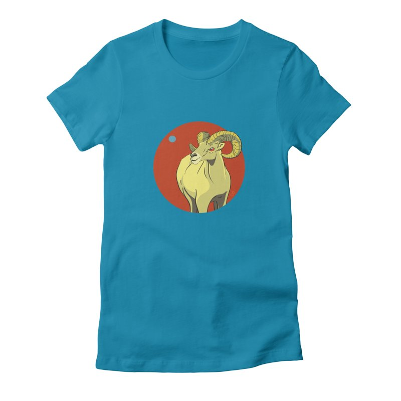 Sheep Zodiac Women's Fitted T-Shirt by CB Design