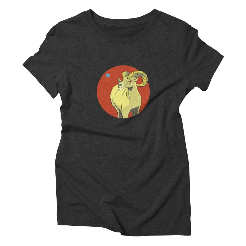 Sheep Zodiac Women's Triblend T-Shirt by CB Design