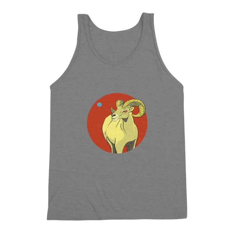 Sheep Zodiac Men's Triblend Tank by CB Design