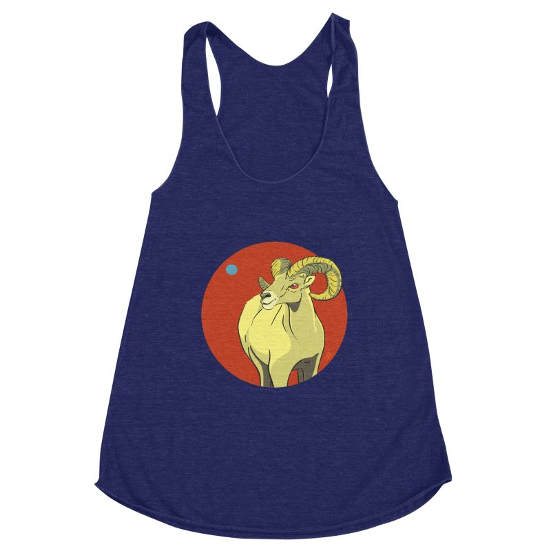 Sheep Zodiac Women's Racerback Triblend Tank by CB Design