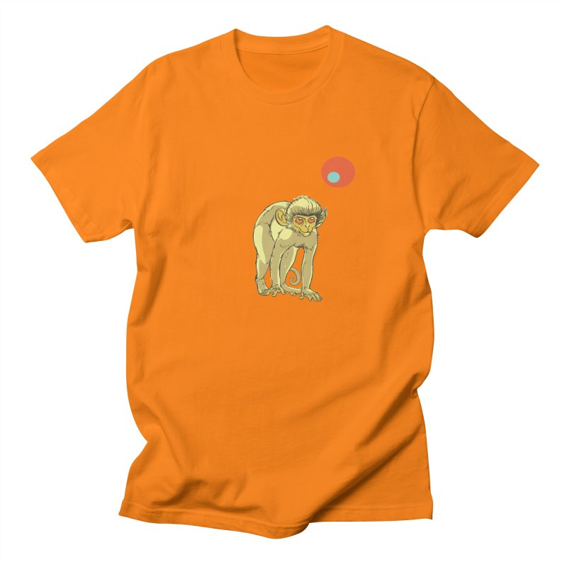 Monkey and Moon Men's T-Shirt by CB Design