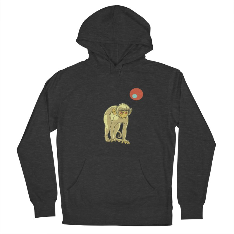 Monkey and Moon Men's French Terry Pullover Hoody by CB Design