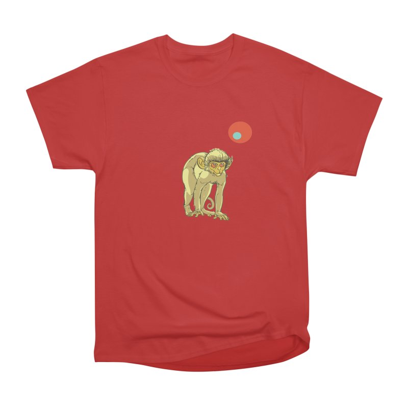 Monkey and Moon Men's Heavyweight T-Shirt by CB Design