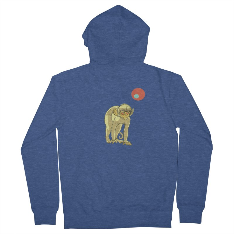 Monkey and Moon Women's Zip-Up Hoody by CB Design