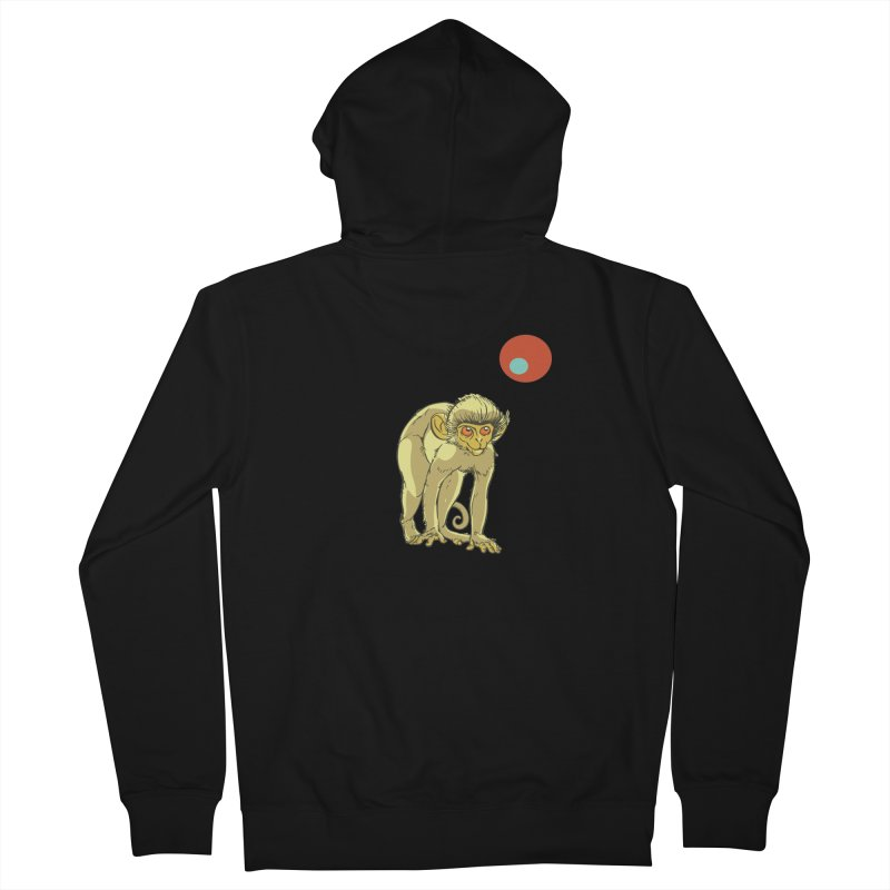 Monkey and Moon Women's French Terry Zip-Up Hoody by CB Design