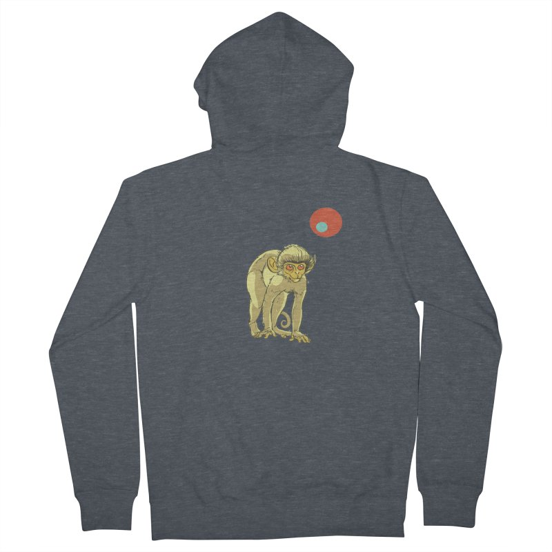 Monkey and Moon Men's French Terry Zip-Up Hoody by CB Design