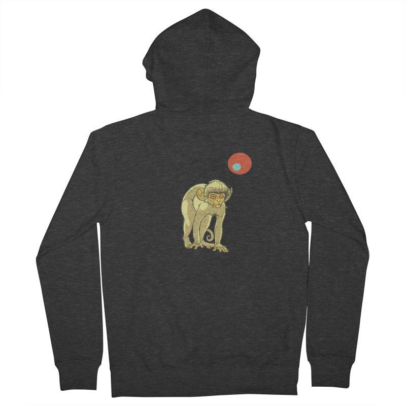 Monkey and Moon Men's Zip-Up Hoody by CB Design