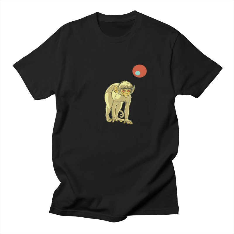 Monkey and Moon Men's Regular T-Shirt by CB Design