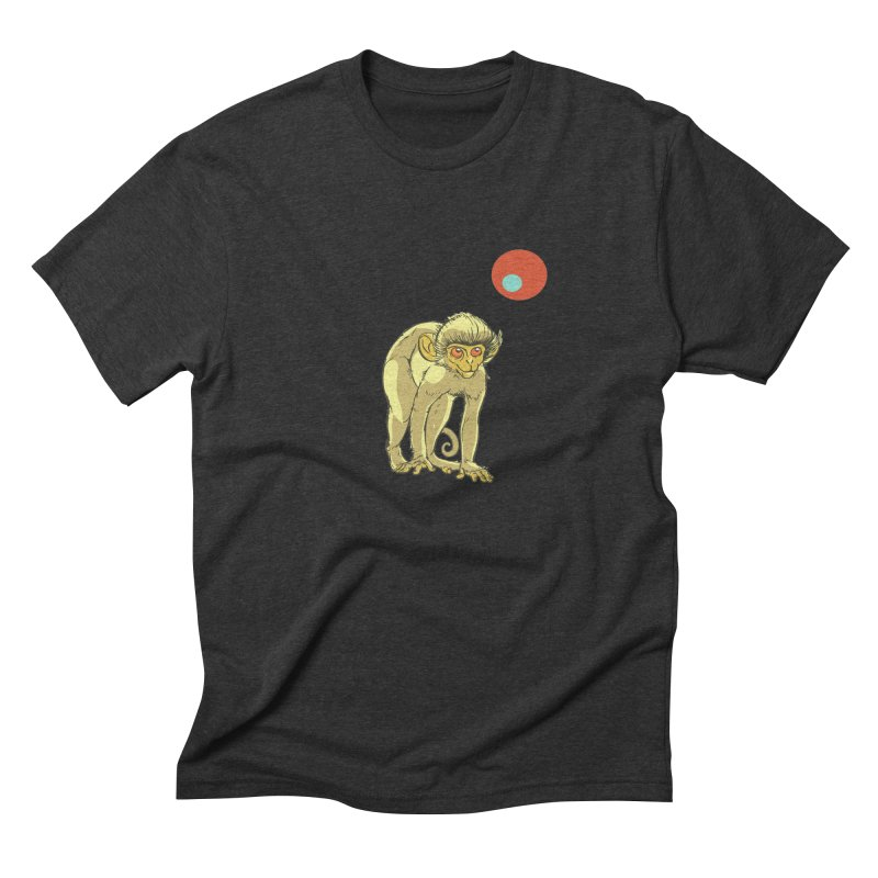 Monkey and Moon Men's Triblend T-Shirt by CB Design