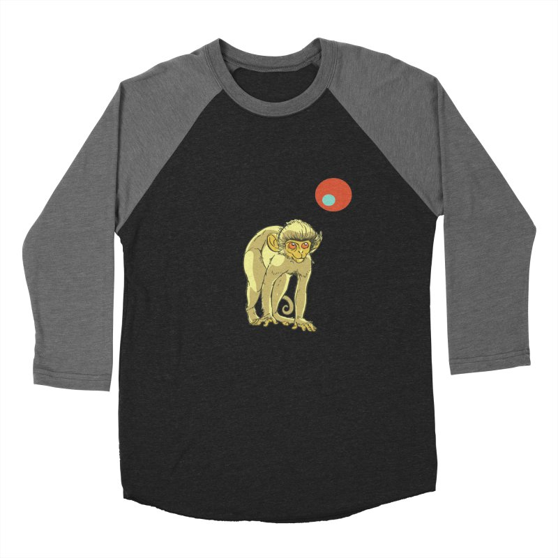 Monkey and Moon Women's Baseball Triblend Longsleeve T-Shirt by CB Design