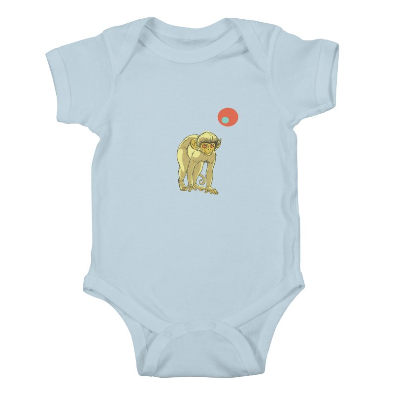 Monkey and Moon Kids Baby Bodysuit by CB Design