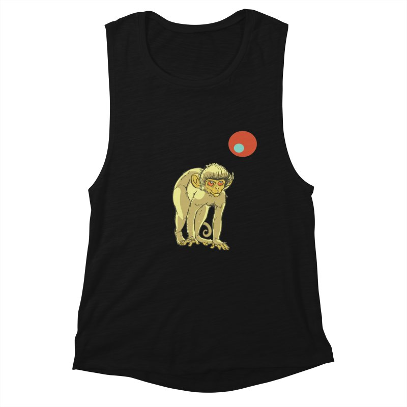 Monkey and Moon Women's Muscle Tank by CB Design
