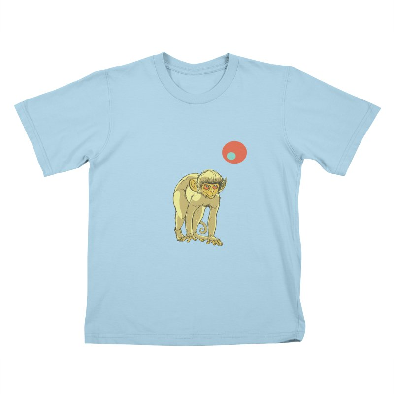 Monkey and Moon Kids T-Shirt by CB Design