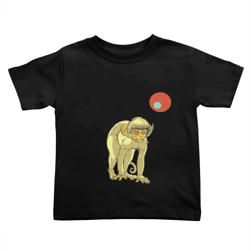 Monkey and Moon Kids Toddler T-Shirt by CB Design
